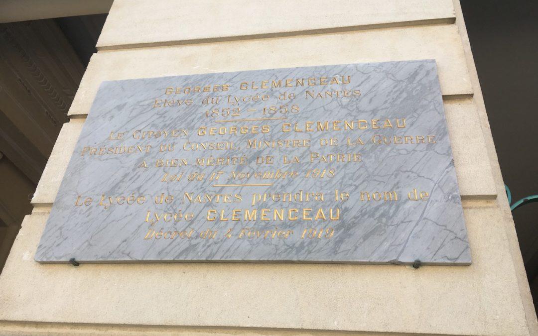 Il y a 100 ans, le Lycée de Nantes devenait le Lycée Clemenceau